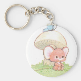 Mice Summertime Daydreaming Basic Round Button Keychain