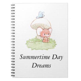 Mice Summertime Daydreaming Notebook