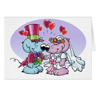Mice wedding couple card