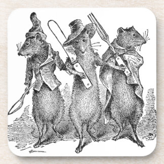 Mice with Silverware Coaster