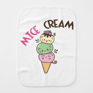 Micecream (Ice cream) Burp Cloth