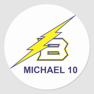 MICHAEL 10 CLASSIC ROUND STICKER