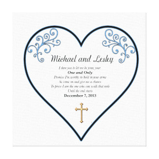 Michael and Lesley Wedding Gift Canvas Print