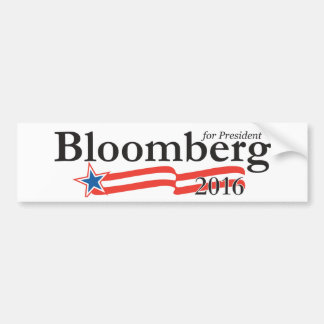 Michael Bloomberg for President 2016 Bumper Sticker
