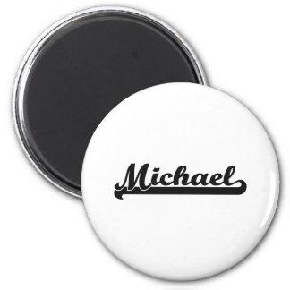 Michael Classic Retro Name Design 2 Inch Round Magnet
