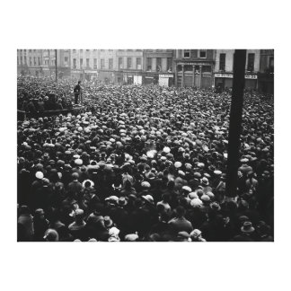 Michael Collins Free State Demonstration 1922 Canvas Print