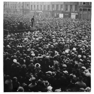 Michael Collins Free State Demonstration 1922 Cloth Napkin