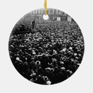 Michael Collins Free State Demonstration 1922 Double-Sided Ceramic Round Christmas Ornament