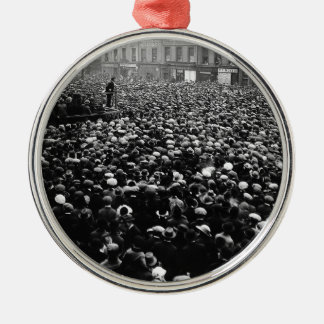 Michael Collins Free State Demonstration 1922 Silver-Colored Round Ornament