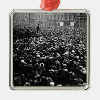 Michael Collins Free State Demonstration 1922 Silver-Colored Square Ornament