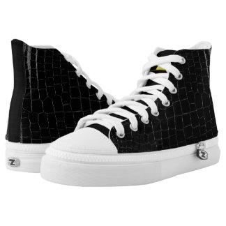 Michael DeVinci  High Top Shoes Black-Crocs