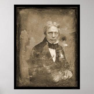 Michael Faraday Daguerreotype 1845 Poster