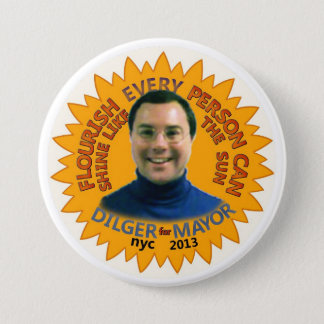 Michael J. Dilger for NYC Mayor 2013 3 Inch Round Button