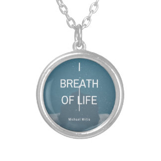 Michael Milis I Breath Of Life Silver Plated Necklace