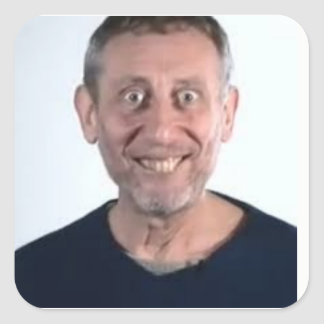 Michael Rosen Stickers!!!! Square Sticker