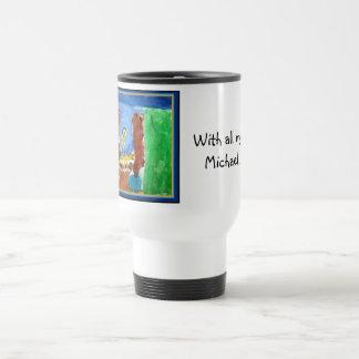 michael shara travel mug