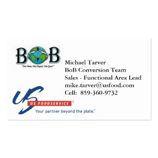 Michael Tarver - BoB Conversion Pack Of Standard Business Cards