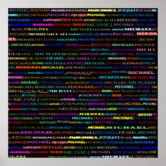 Michael Text Design I Print
