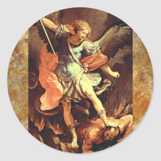 Michael the Archangel Classic Round Sticker