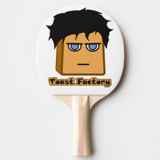 Michael Toastie White Ping Pong Paddle