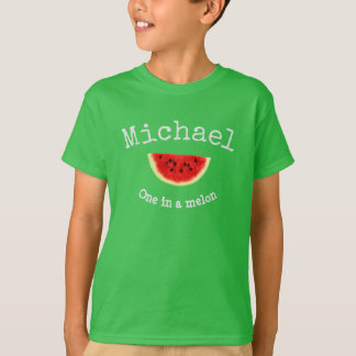"""Michael Your Child's Name """"One in a melon"""" shirt"""