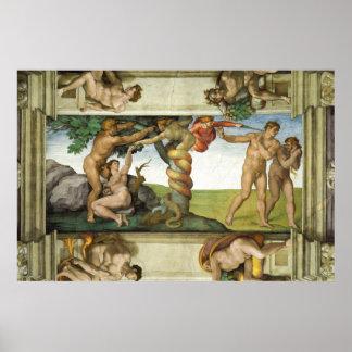 "Michaelangelo Sistine Chapel ""The Fall"" Poster"