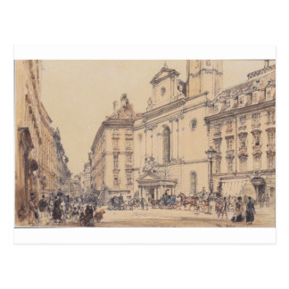 Michaelerplatz and carbon market in Vienna by Rudo Postcard