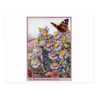Michaelmas Daisy Fairy Postcard