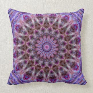 Michaelmas Daisy Luxe Mandala Pillow