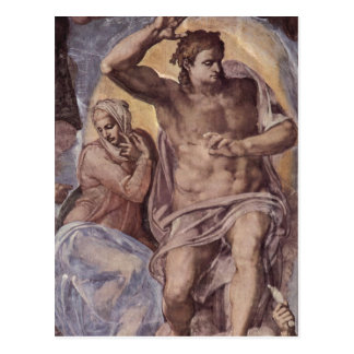 Michelangelo Buonarroti Das J?ngste Gericht, Fresk Postcard