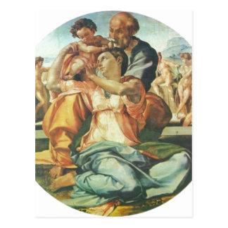 Michelangelo Buonarroti Hl Familie Tondo 1504-15 Postcard