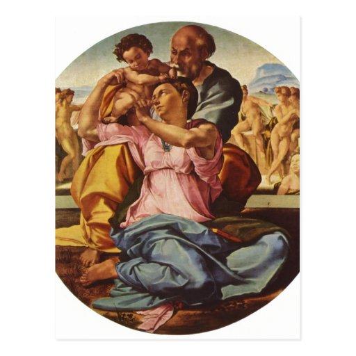 Michelangelo Buonarroti Hl. Familie, Tondo 1504-15 Post Cards