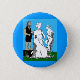 Michelangelo Carving David 2 Inch Round Button
