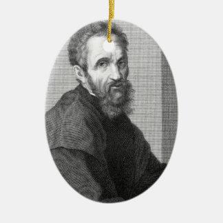 Michelangelo Ceramic Oval Ornament