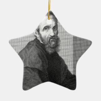 Michelangelo Ceramic Star Ornament