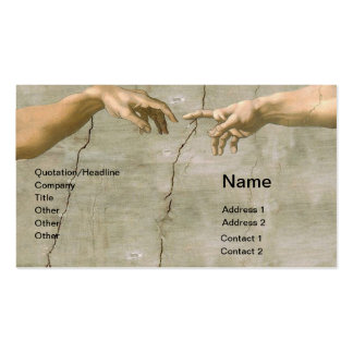 Michelangelo Creation of Adam Business Cards