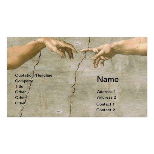 Michelangelo Creation of Adam Business Cards
