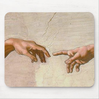 Michelangelo Creation of Adam Mouse Pad