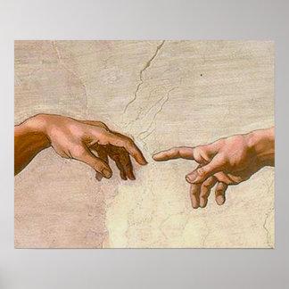 Michelangelo Creation of Adam Posters