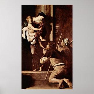 Michelangelo da Caravaggio - Madonna of Pilgrims Poster