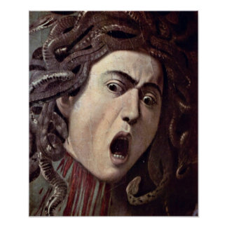 Michelangelo da Caravaggio - The head of Medusa Poster