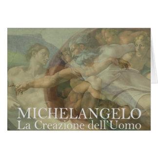 Michelangelo Genesis Creation of Man Card
