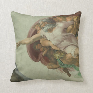 Michelangelo Genesis Creation of Man Pillow