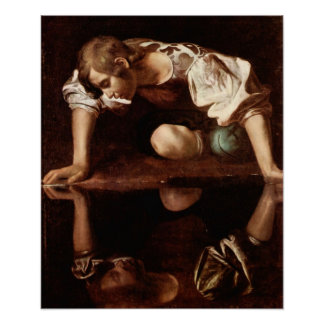 Michelangelo Merisi da Caravaggio-Narcissus Poster