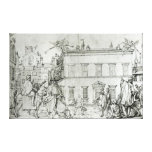 Michelangelo on horseback, visiting an artist gallery wrap canvas