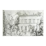 Michelangelo on horseback, visiting an artist gallery wrap canvas