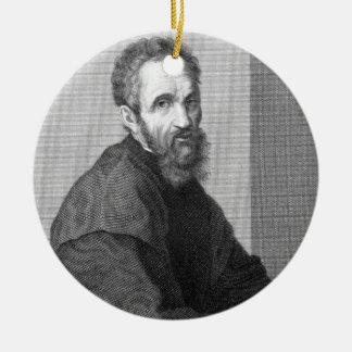 Michelangelo Round Ceramic Ornament