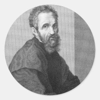 Michelangelo Round Sticker