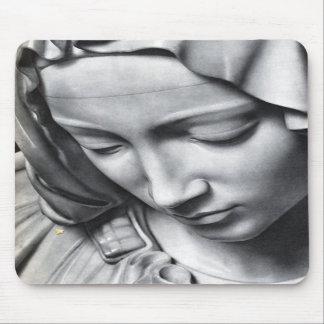 Michelangelo s Pieta detail of Virgin Mary s face Mousepads