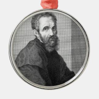 Michelangelo Silver-Colored Round Ornament